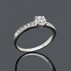 Channel White Gold Engagement Ring