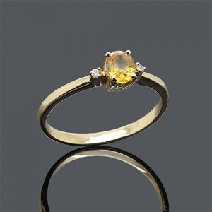 The Oval Yellow Sparkle Ring