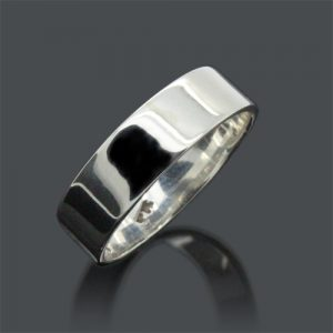Sterling Silver Flat Band 6mm