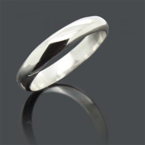 Silver Wedding Band 4.0mm
