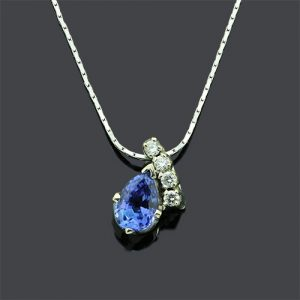 Stunning Tazanite Pendant Necklace