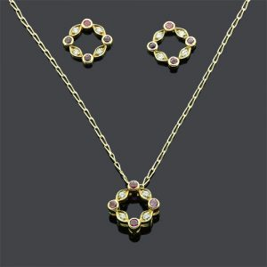 Stunning Ruby and Diamond Pendant Necklace