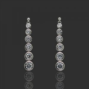 Sparkling Bridal Drop Earrings