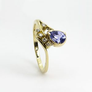 Pear Drop Tanzanite Ring