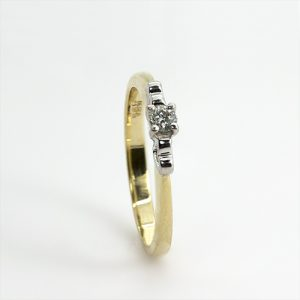 Solitaire Diamond Heart Ring