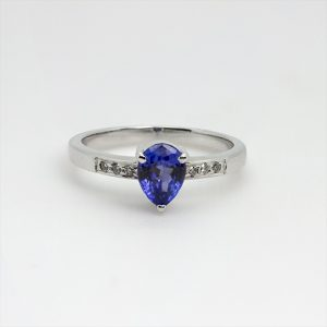 The Pear Drop Tanzanite Ring