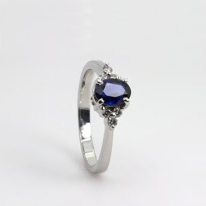 The Authentic Sapphire And Diamond Engagement Ring