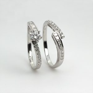 Elegant Diamond Bridal Rings Set