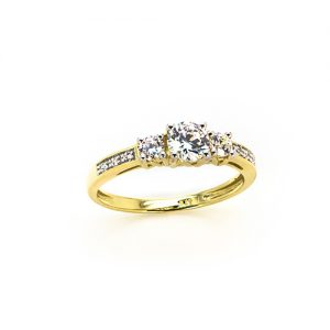 A Unique Zricon Engagement Ring in Gold