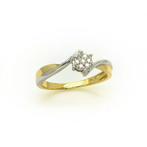 A Stylish Diamond Engagement Ring in 9ct Gold