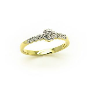 A Gold Diamond Engagement Ring
