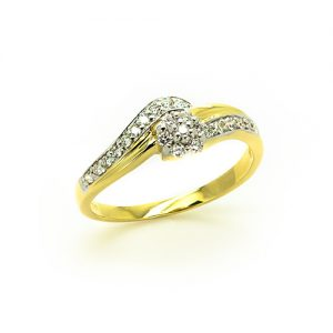 A Crown Halo Diamond Engagement Ring