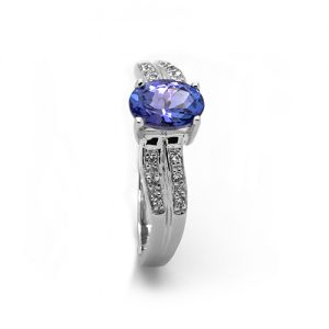 A Classic Tanzanite Diamond Ring