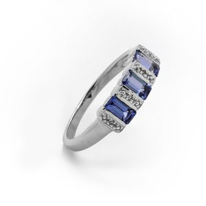 The Tanzanite Trio Baguette Ring