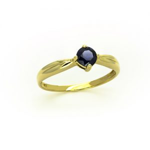 A Stunning Round Sapphire Ring