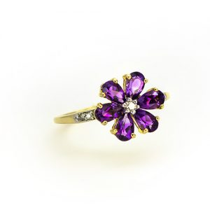 A Spectacular Amethyst Floral Ring