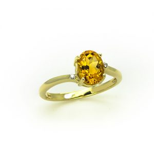 The Sylish Citrine Diamond Ring