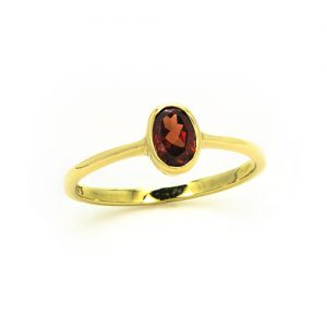 Elegant Red Garnet Ring