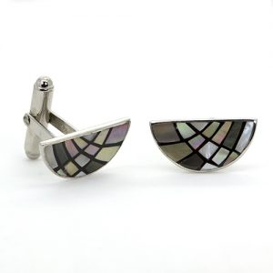 The Mosaic Moon Cuff Links