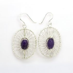 Woven Amethyst earrings.