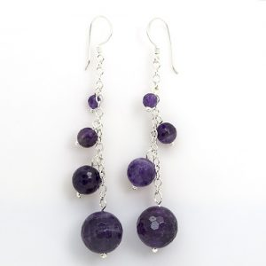 Long Amethyst Drops