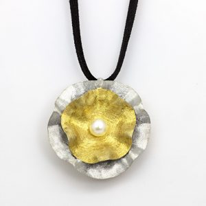 Golden Forget-Me-Not Pendant Necklace