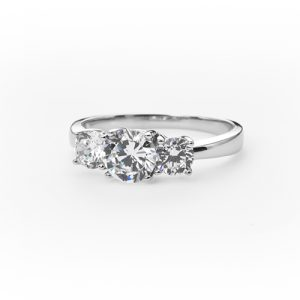 Timeless Silver Engagement Ring