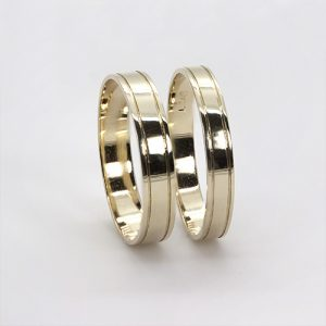 The Aberdare  Gold Wedding Bands