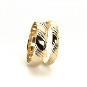 The Teleki Gold Wedding Bands