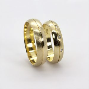 The Milele Gold Wedding Bands