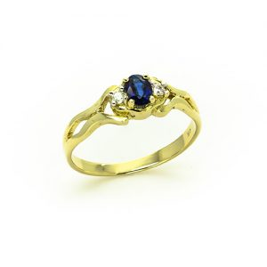 A Fancy Sapphire Diamond Engagement Ring