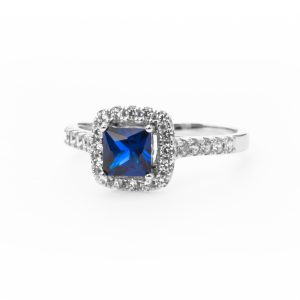Blue Princess Halo Ring