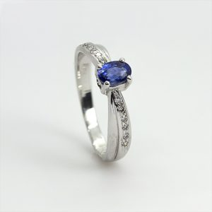 A Spectacular Blue Sapphire Engagement Ring