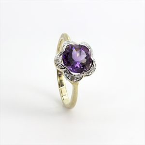 The Floral Amethyst Ring