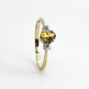 A Dainty Yellow Sapphire Engagement Ring