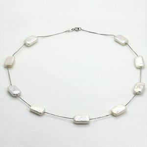 The Rectangle Baroque Pearl Necklace