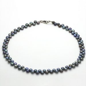 Twin Black Pearl Necklace