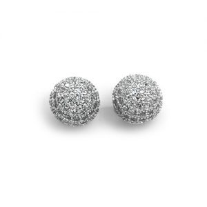 The Sparkling Silver Sphere Earrings