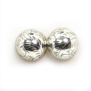 Big Dome Silver Earrings