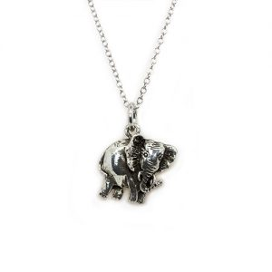 The African Pride Elephant Pendant Necklace