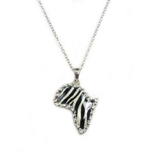 Striped Africa Silver Pendant