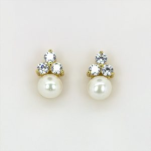 Gold Plated Silver Pearl Earrings