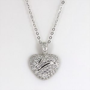 The Crystal Zircon Heart Shimmer Necklace