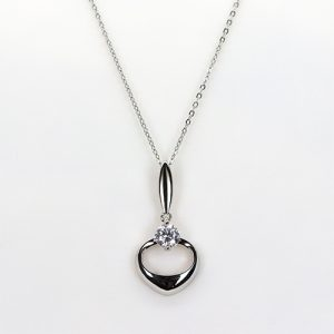 The Perfect Heart Drop Necklace