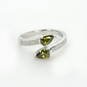 The Pear Twist Engagement Ring