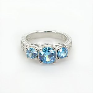 The Sky Blue Zircon Ring