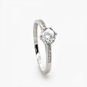 The Superb White Gold Zircon Engagement Ring