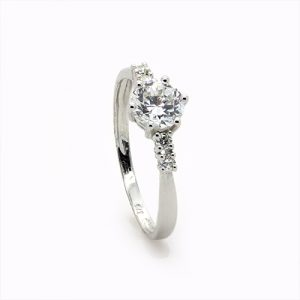 The Zircon Eleganza White Engagement Ring