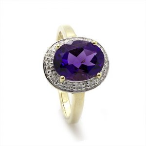 The Ovalla Ametista Engagement Ring
