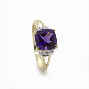 A Magnificent Amethyst and Diamond Engagement Ring